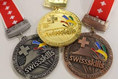 3 Medaillen SwissSkills