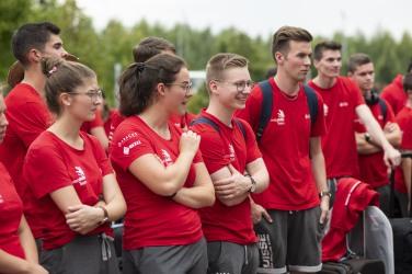 19. August 2019; Kazan; Worldksills Kazan 2019 - Das Team kommt im Village an (Foto: Michael Zanghellini)