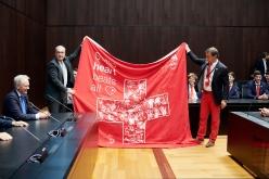 Besuch von SwissSkill im Bundeshaus - u.a.mit Bundesrat Guy Parmelin und Nationalrat Felix Müri. © Manu Friederich